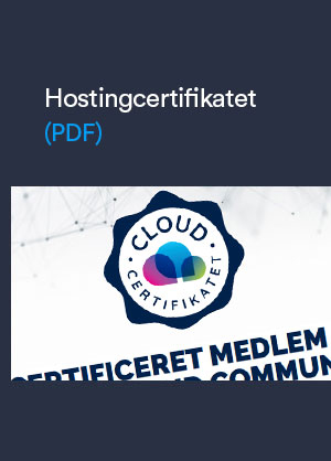 Hostingcertifikat
