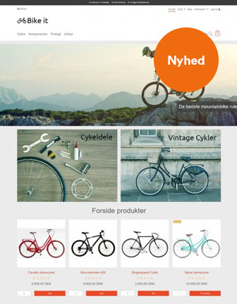 Bike it - Scannet Webshop Designskabelon