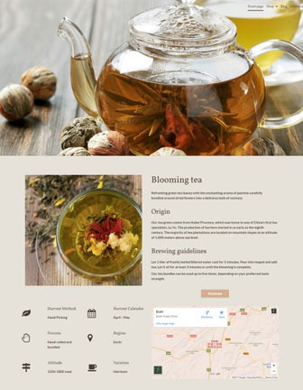 Blooming Tea - Scannet webshop designskabelon