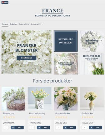 France - Scannet webshop designskabelon