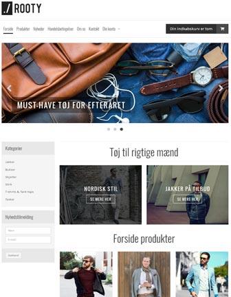 Rooty - Scannet webshop designskabelon