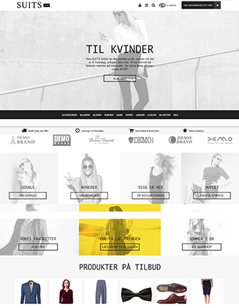 Suits - Scannet webshop designskabelon