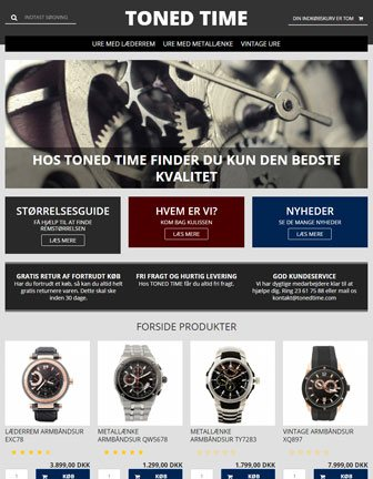 Toned Time - Scannet webshop designskabelon