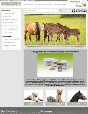 Best From Nature - Scannet webshop reference