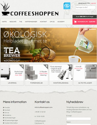 Coffeeshoppen - Scannet webshop reference