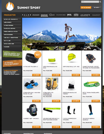 Summit sport - Scannet webshop reference
